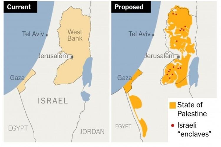 Proposition de D. Trump pour un Etat Palestinien