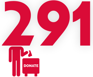 291 donateur·rice·s