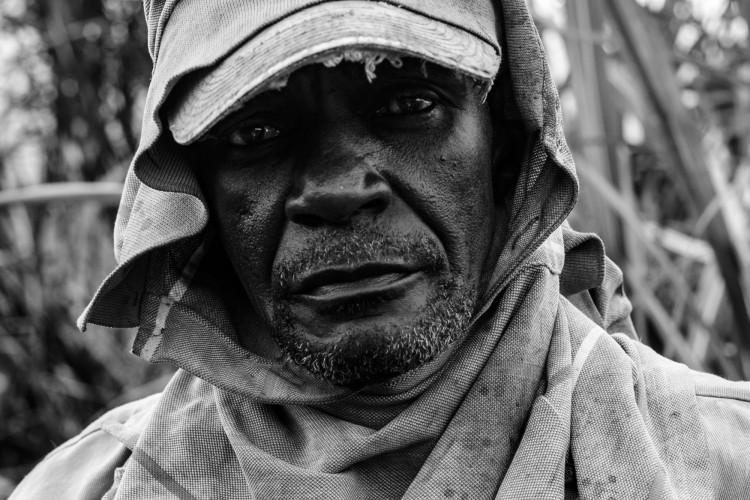 Portrait d'un coupeur de canne à sucre syndiqué.