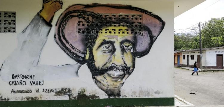 Hommage posthume au chef de village Bartolome Cataño. Le grand-père de Jesús a été assassiné par des paramilitaires en 1990
