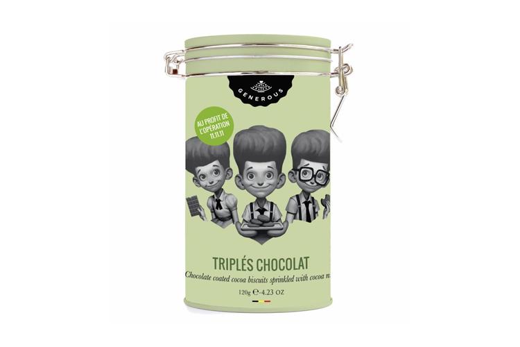 Les triplés chocolat. Le biscuit tout chocolat (13 €)